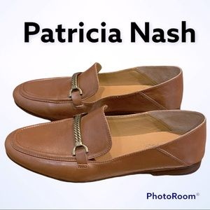 Patricia Nash Leather Brown Loafers Sz 8